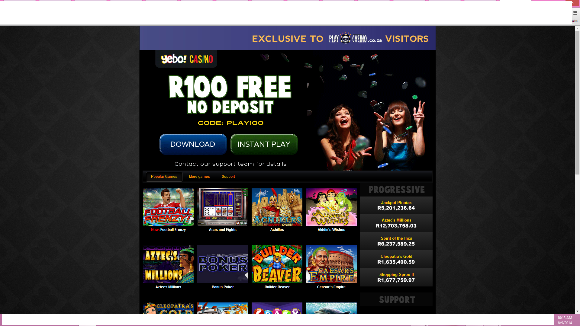 yebo casino no deposit codes 2019