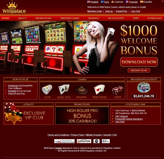 Casino Winpalace No Deposit Codes