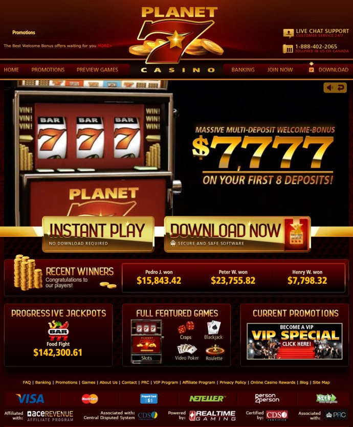 no deposit bonus codes planet 7 casino