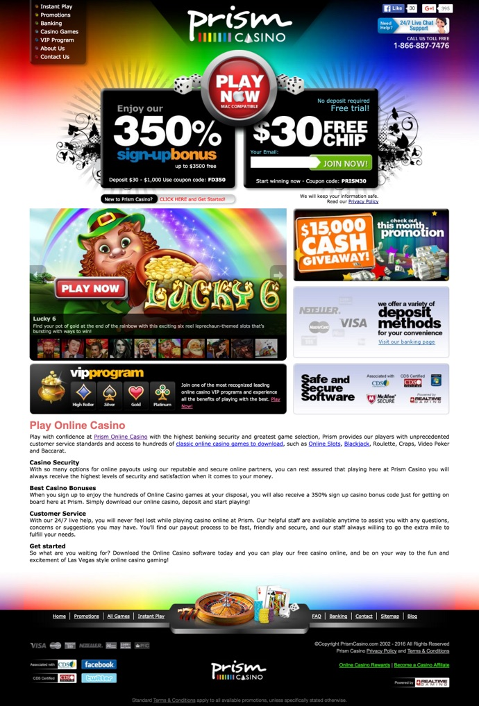 Prism Casino 2020 Review No Deposit Bonus Codes
