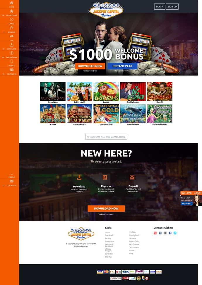 Jackpot Capital Casino 2020 Review No Deposit Bonus Codes