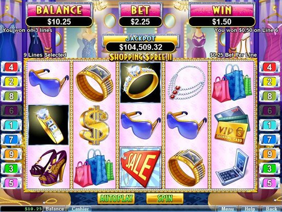 Slots shopping spree