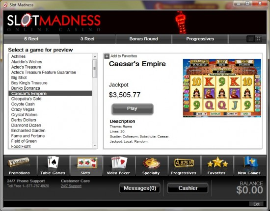 slot madness casino lobby