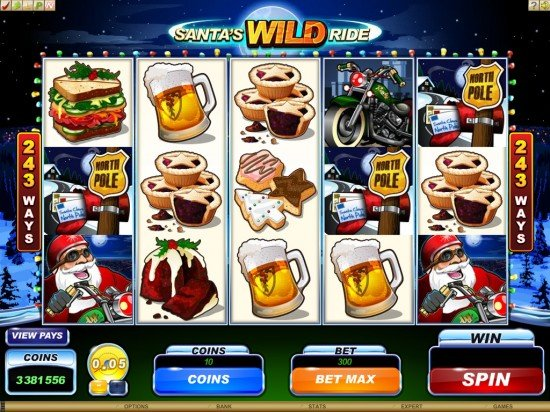 Santas Wild Ride Video Slot