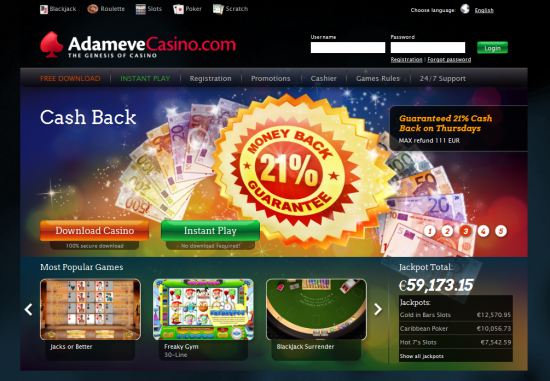 Adam Eve Casino Bonus Code