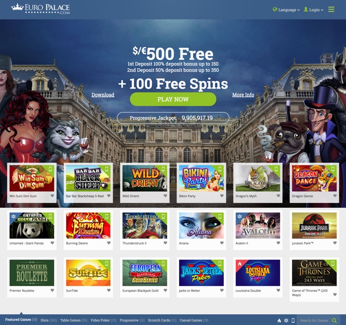 General terms and conditions at Euro Palace Online Casino