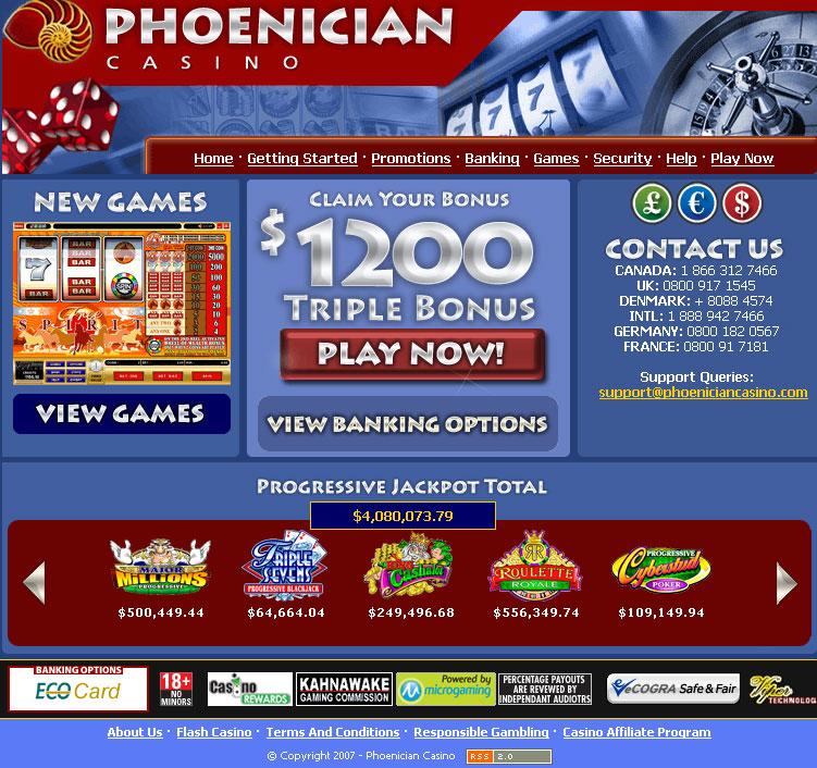 Pheonician casino terribles town casino bowl