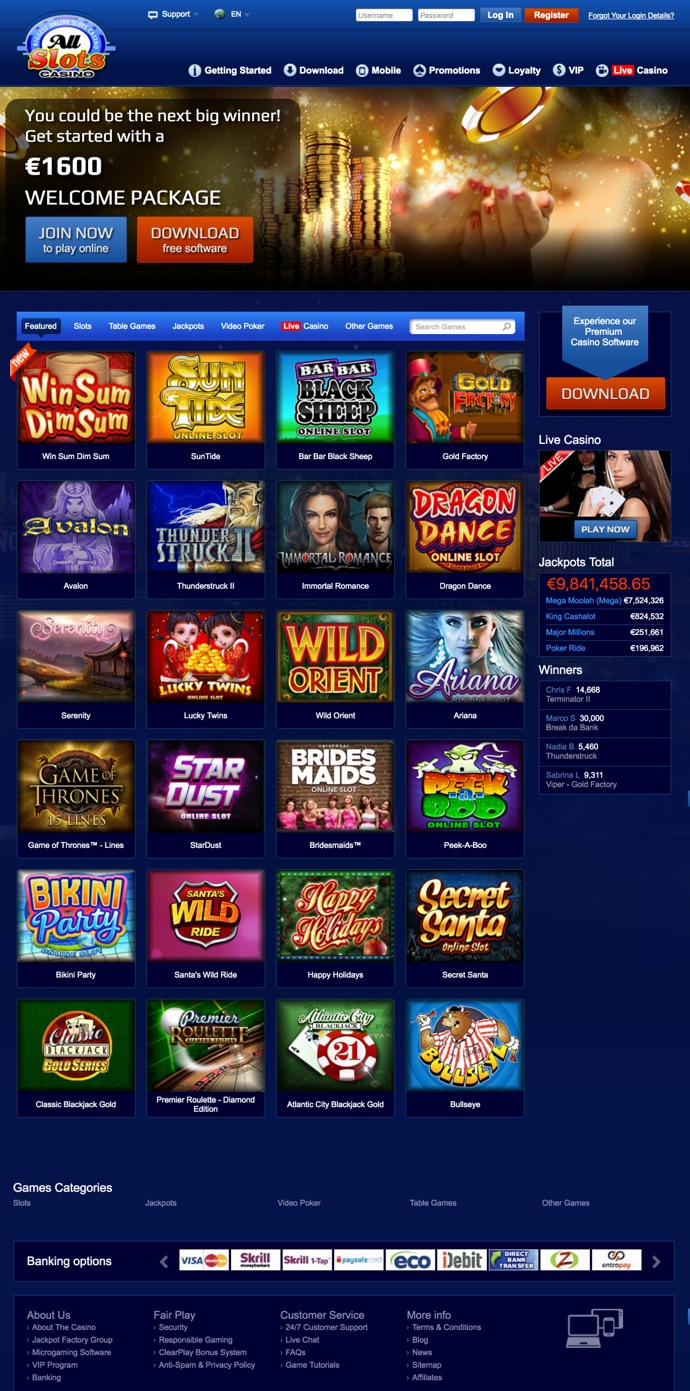 all slots casino website
