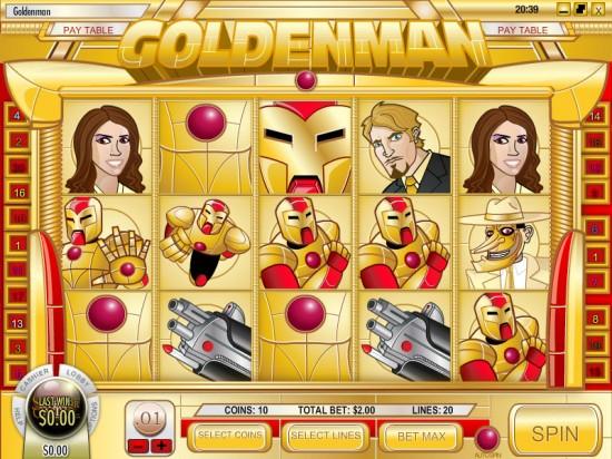 golden man video slot