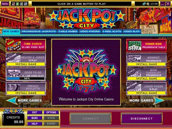 jackpotcity online casino  games