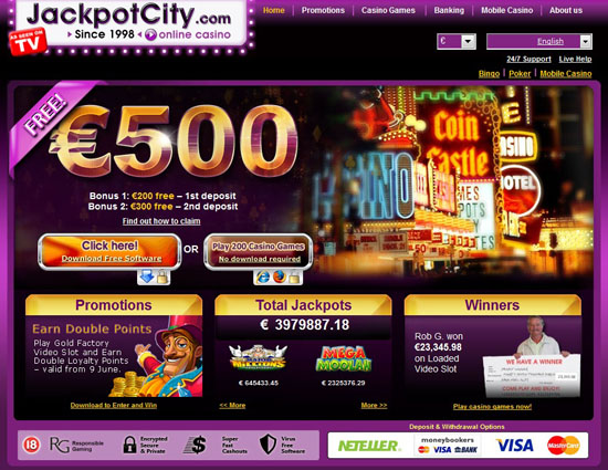 jackpot city casino canada login