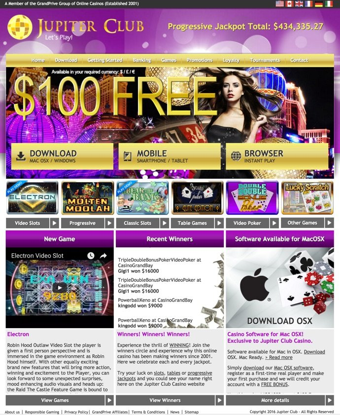 jupiter club casino bonus