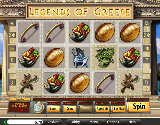 legend of grece slot
