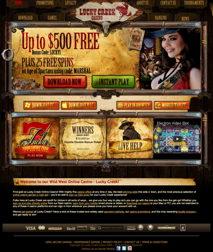 no deposit bonus codes lucky creek casino
