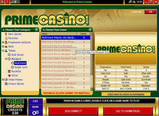 prime casino lobby