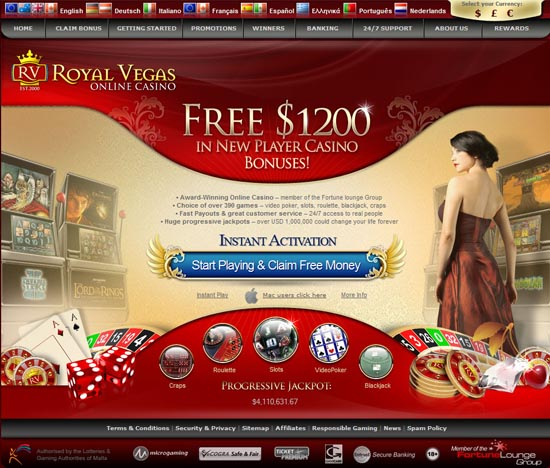 casino royale bonus