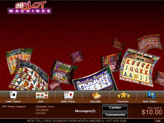 no deposit bonus 99 slot machine casino