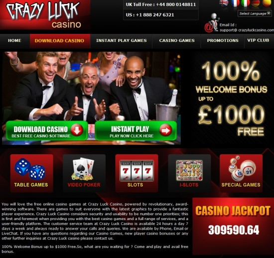 Crazy Luck Casino Instant Play