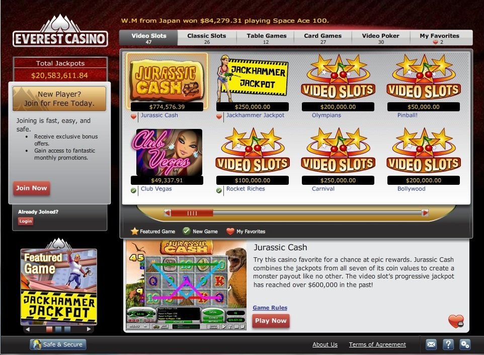 Everest casino no deposit bonus 2013 virtual casino group
