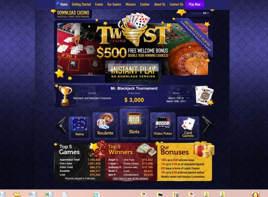 twist game casino