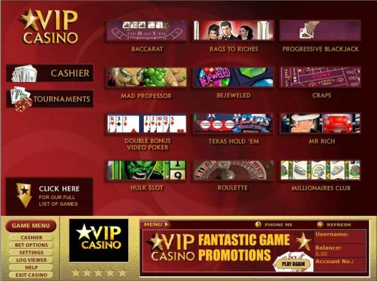 casino rewards vip slot