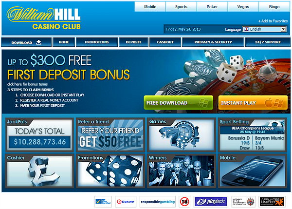 william hill deposit