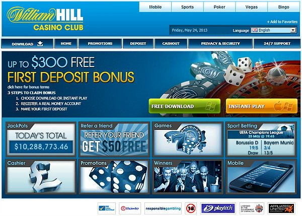 william hill casinos