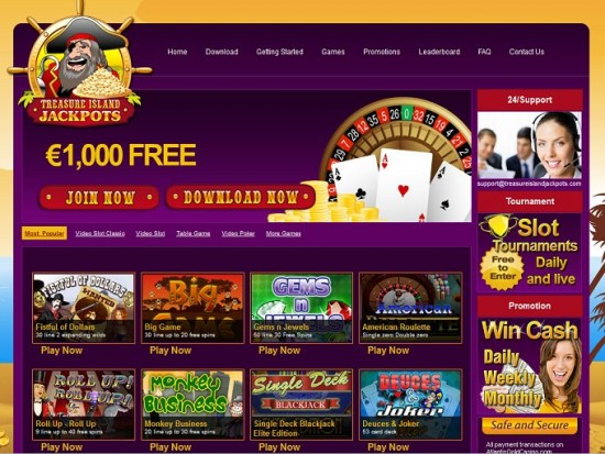 treasure island jackpots casino