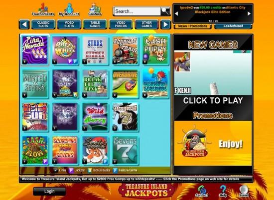 treasure island jackpots casino lobby