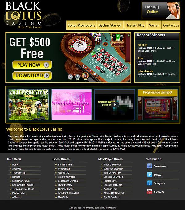 Black Lotus Casino No Deposit Codes