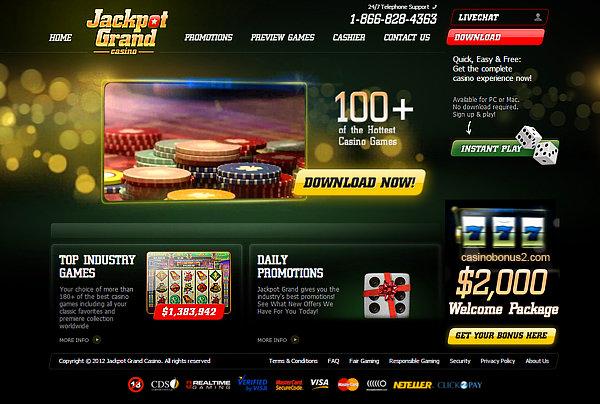 Jackpot Grand No Deposit Bonus