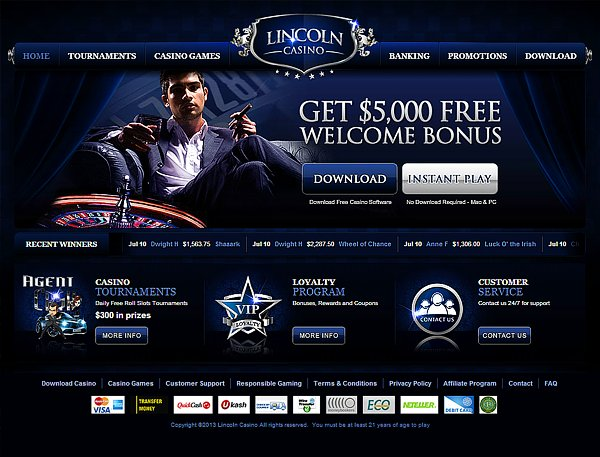 Lincoln Casino 2020 Review No Deposit Bonus Codes