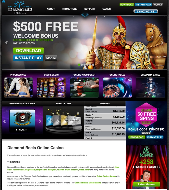 diamond reels casino codes 2019