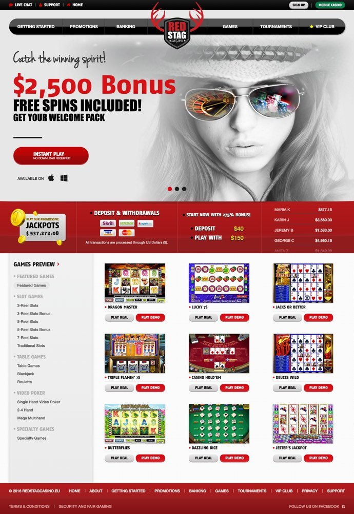 red stag casino new player bonus