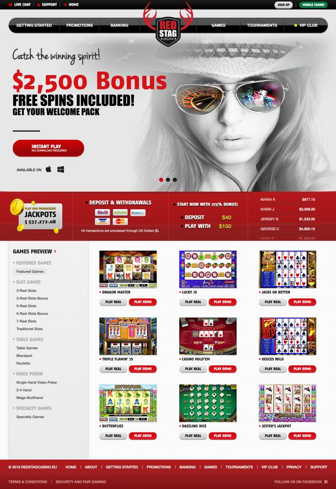 Red Stag No Deposit Bonus Codes