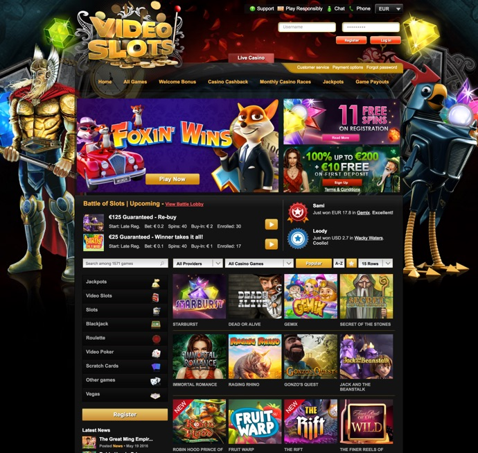video slots casino no deposit bonus codes