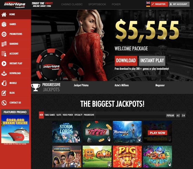 Intertops Casino 2020 Review No Deposit Bonus Codes