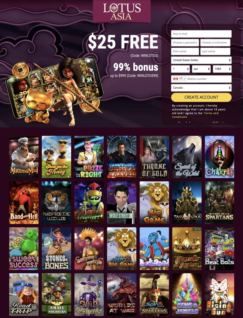 Lotus Asia Casino 2020 Review No Deposit Bonus Codes