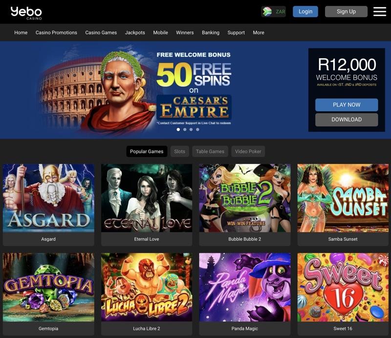 yebo casino bonus codes