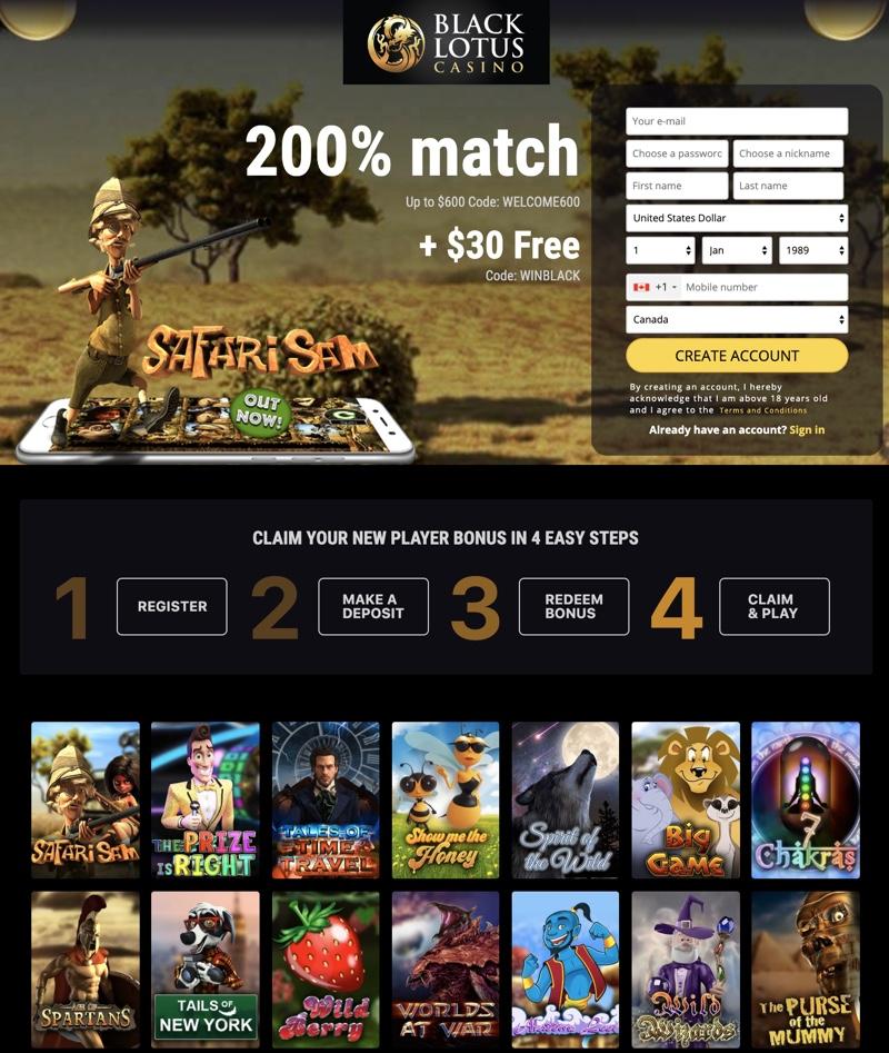 Black Lotus Casino 2020 Review No Deposit Bonus Codes