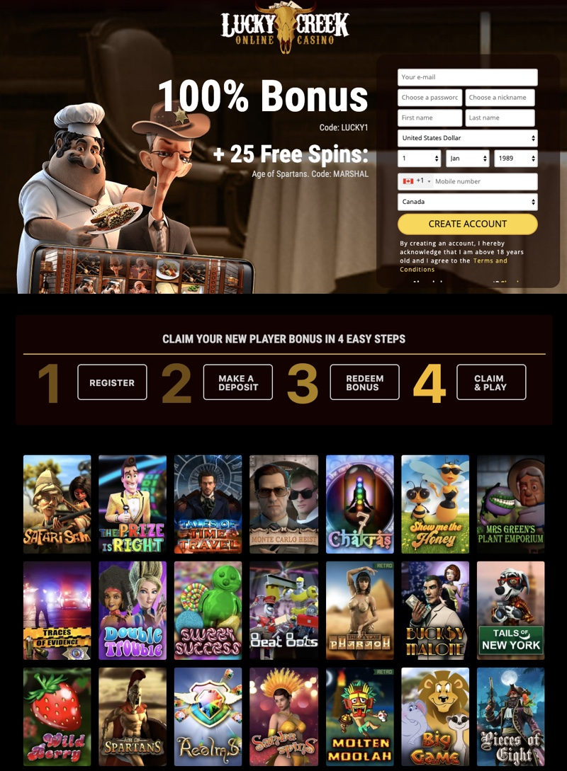 Lucky Creek Casino 2020 Review No Deposit Bonus Codes