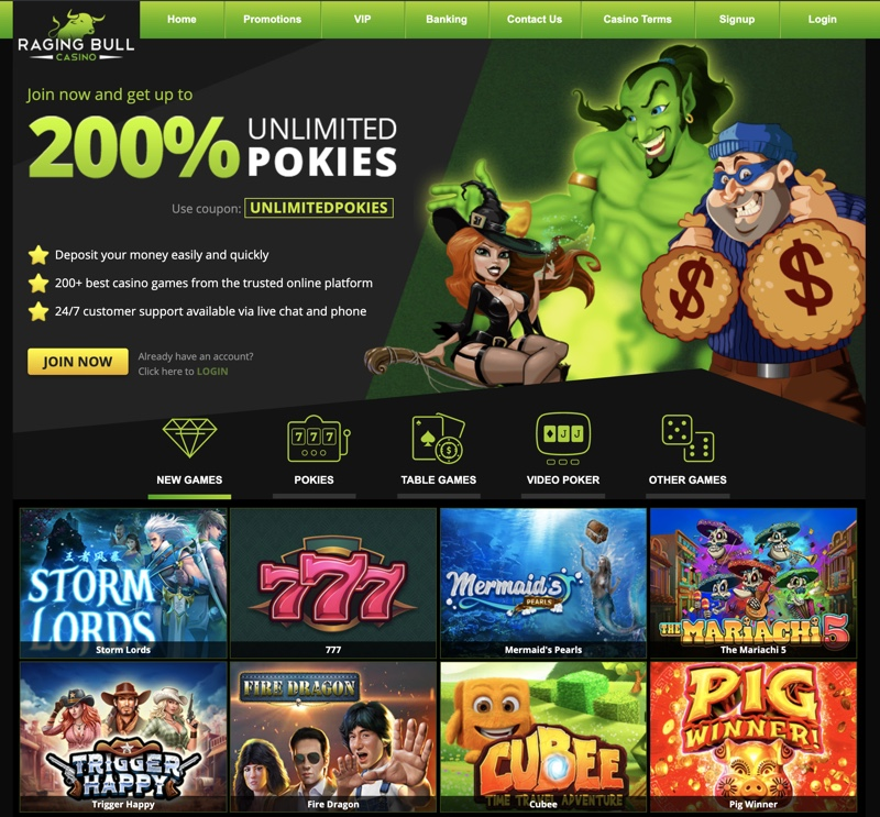 Raging Bull Casino 2020 Review No Deposit Bonus Codes