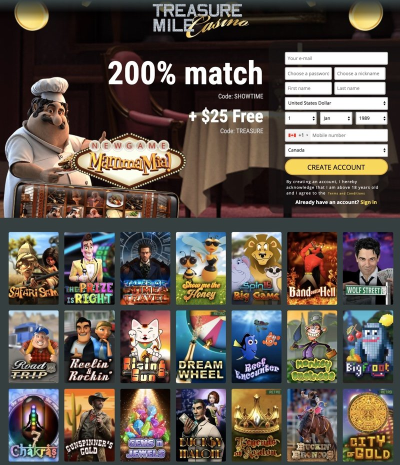 Treasure Mile Casino 2020 Review No Deposit Bonus Codes