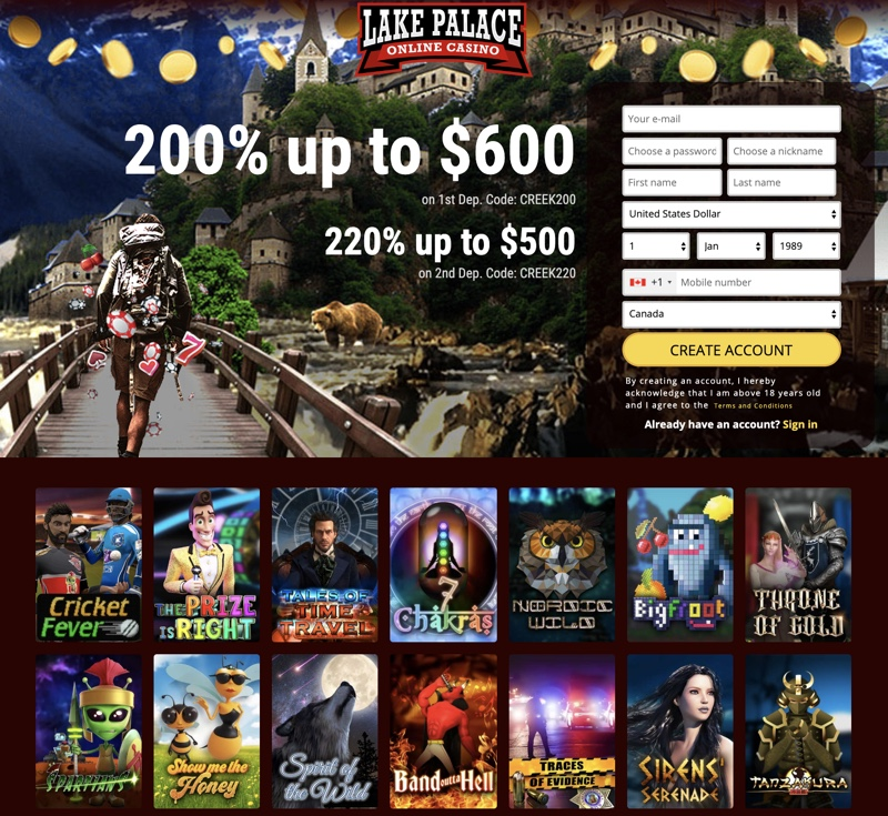 Lake Palace Casino 2020 Review No Deposit Bonus Codes